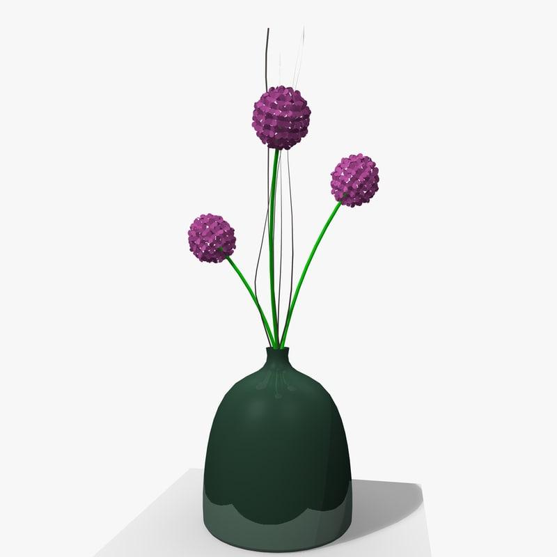 3d flower indoor house plant