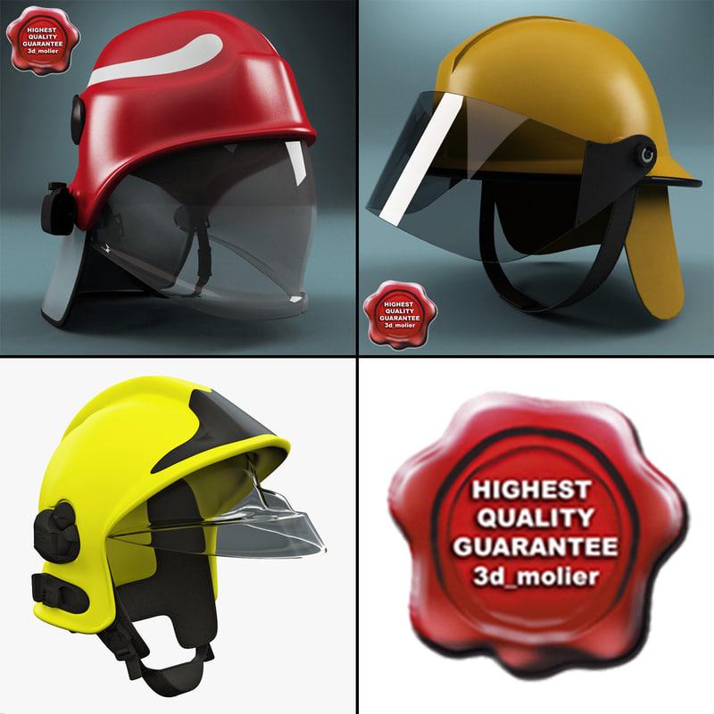firefighter helmets c4d