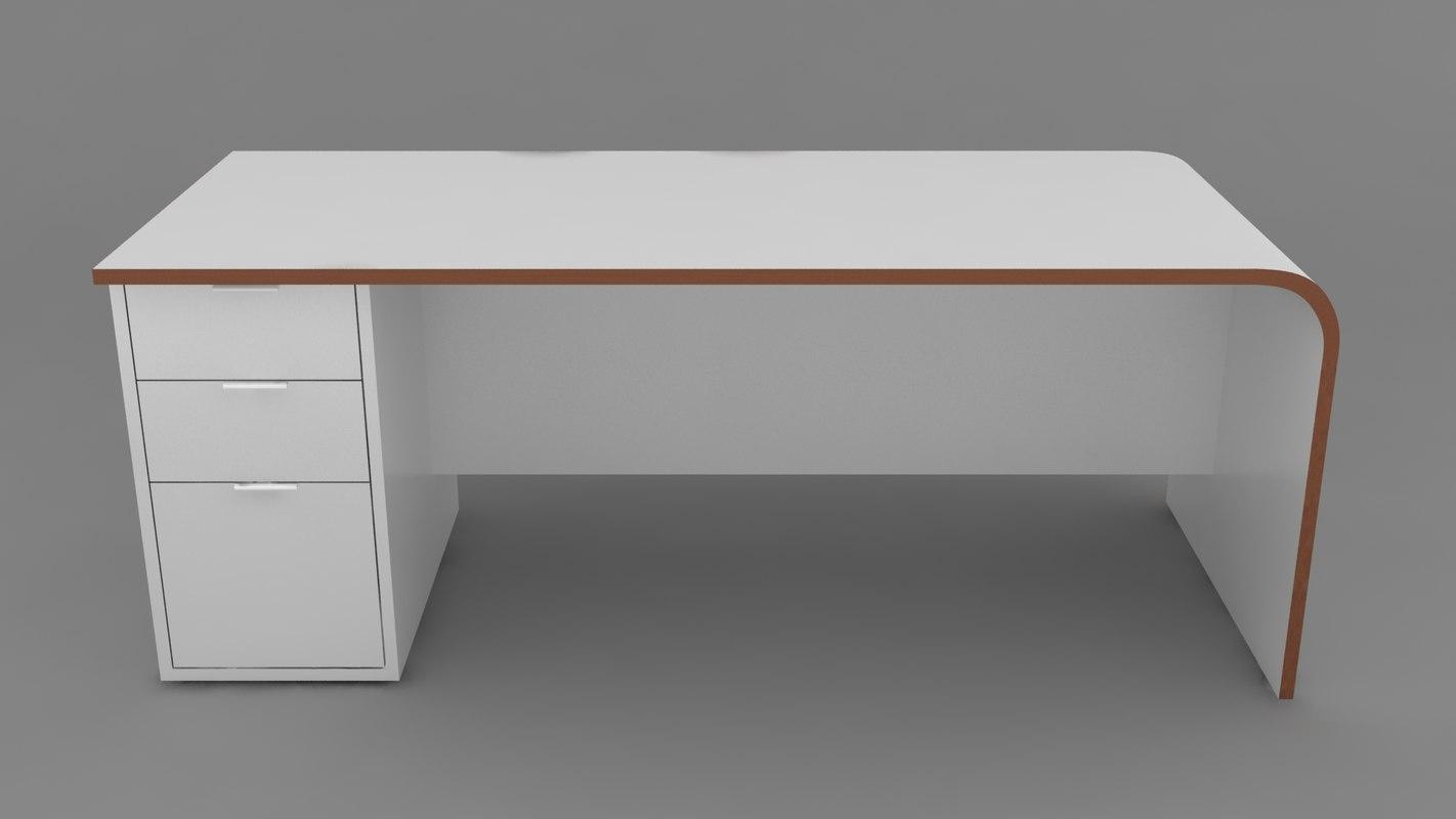 hyundai desk 3d model