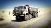 3ds max truck kamaz maz