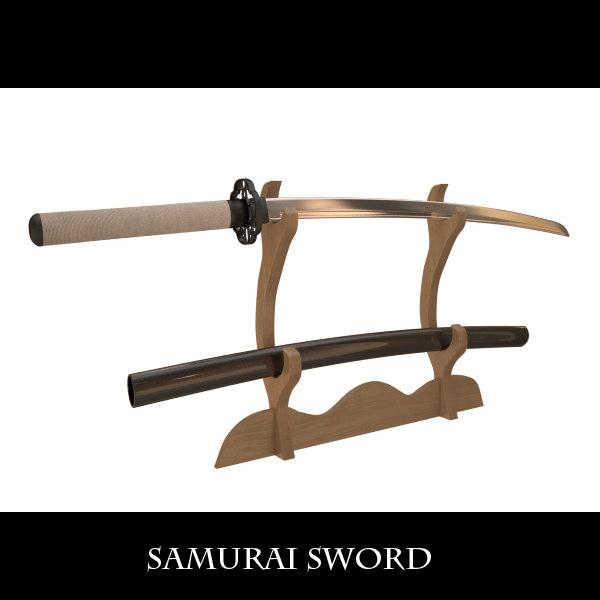 3d samurai sword model