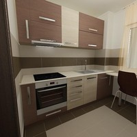 3d kitchen scene var 1 model