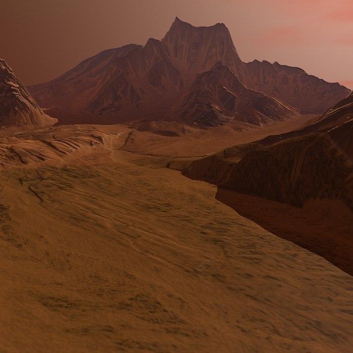 3d mountain terrain