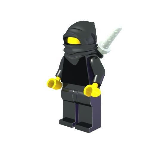 lego ninja 3d model