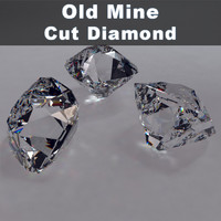 3d old cut diamond model