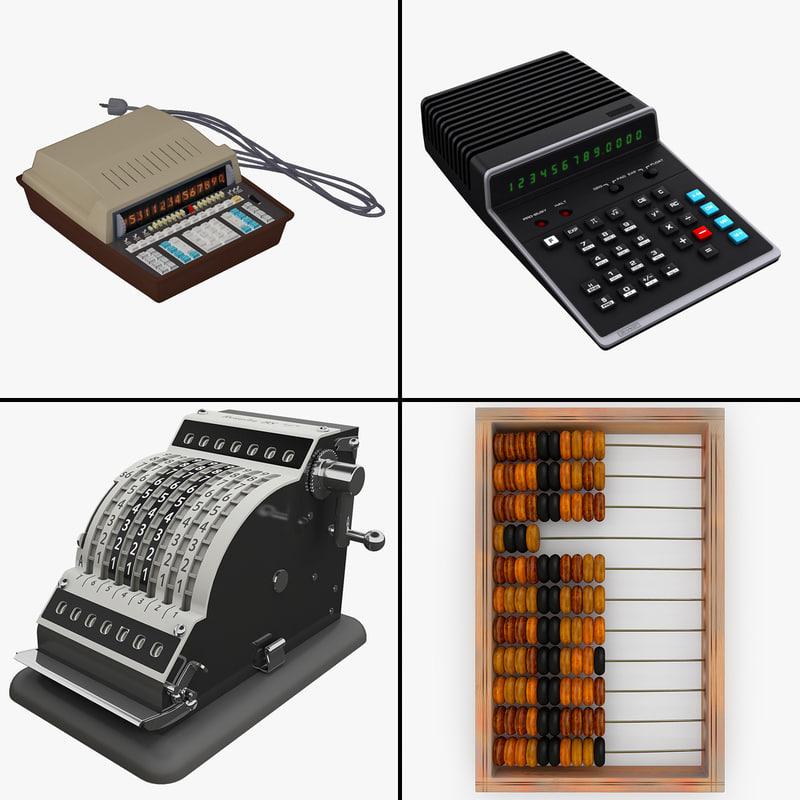 old calculators obj