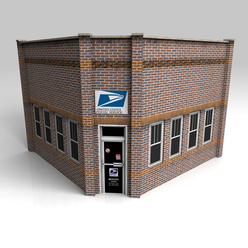 3d model post office
