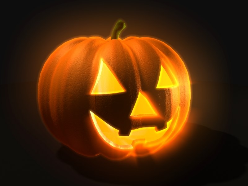 carved pumpkin 3d model