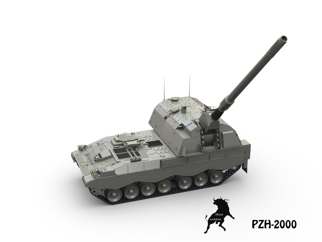 tank howitzer military 3d max