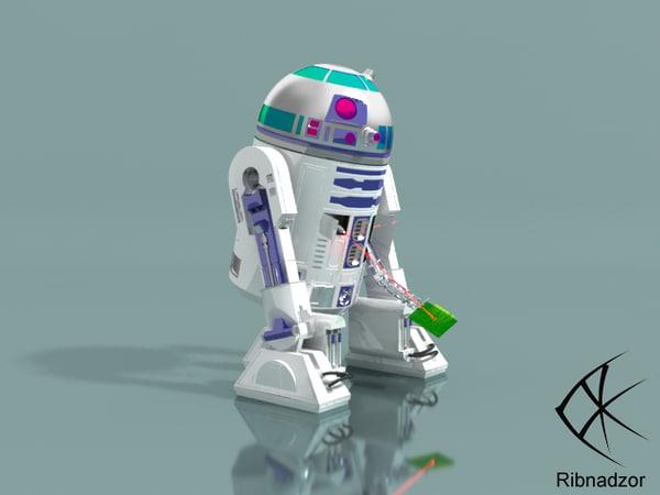 3d model r2d2 robot