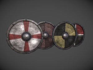 3d model shield pack 1 -