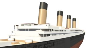 incomplete titanic hull 3d model