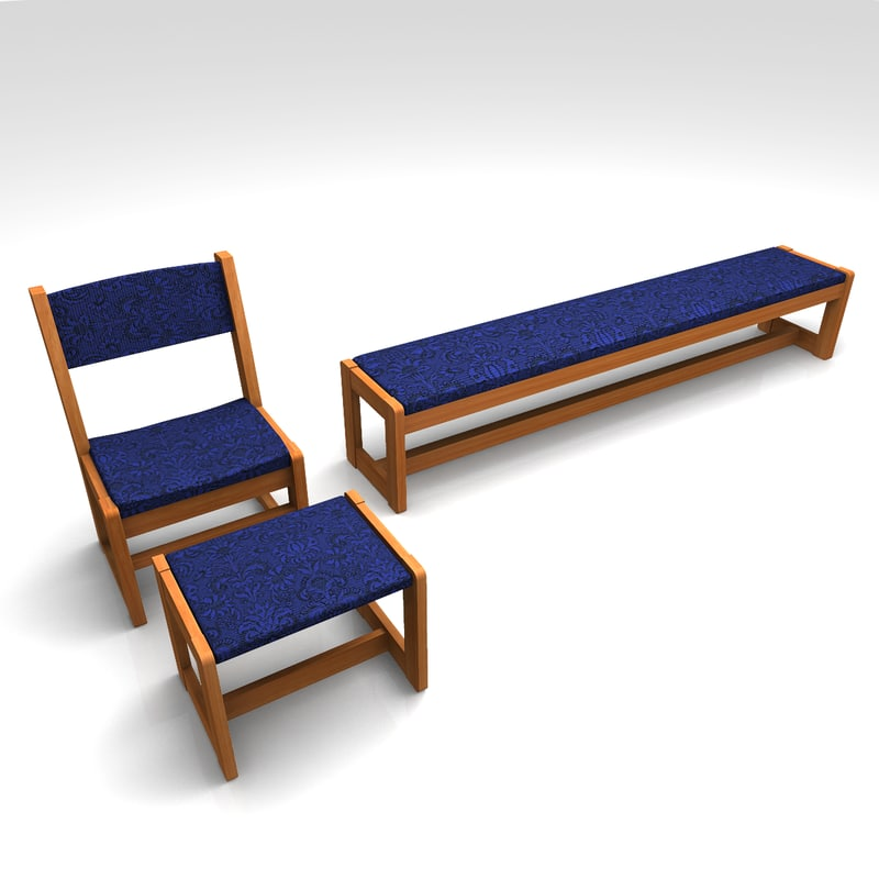 set furniture 3d fbx