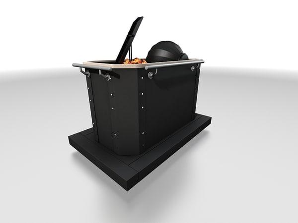 stove sauna 3d max