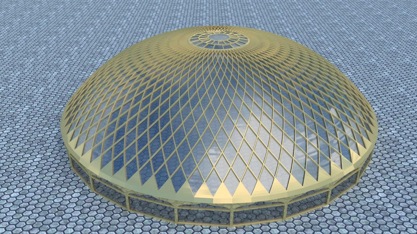 dome 1008 petals 3d model