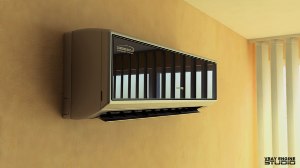 3d model air conditioner samsung