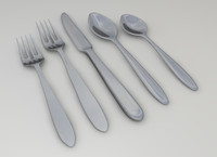 fork knife spoon 3d 3ds