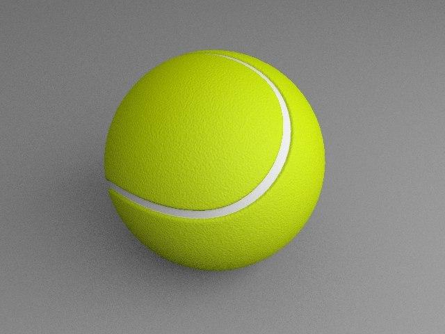 tennis ball 3d x