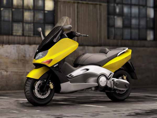 yamaha t-max 500 3d model