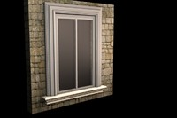 3d model of exterior window