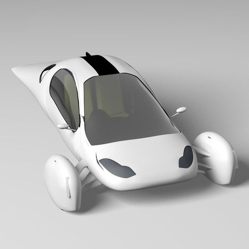 aptera futuristic car 3d 3ds