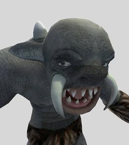 character troll monster 3d model