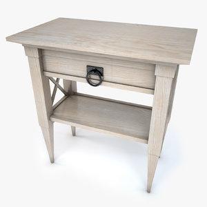 3d model bedside table bed