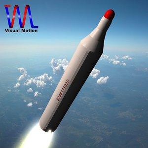 north musudan missile bm25 3d dxf