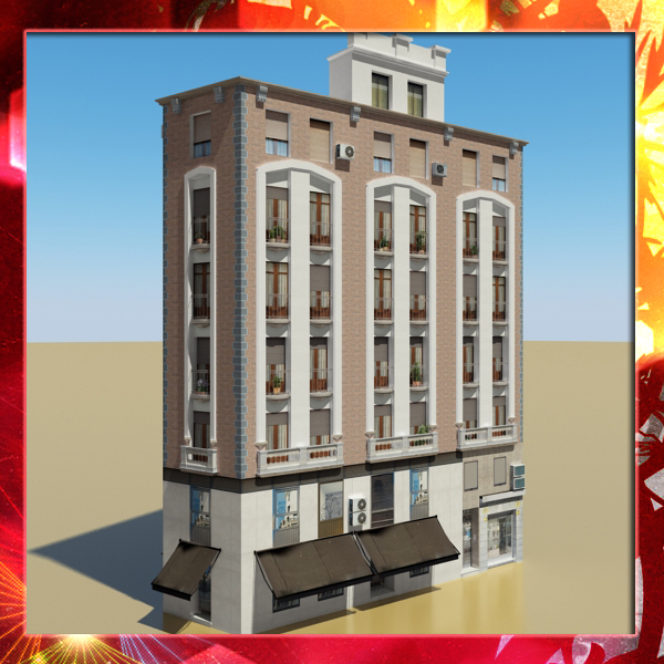 photorealistic building 19 3d model
