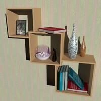cube shelf group 3d model