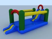 inflatable slide 3d c4d