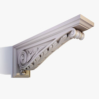 3ds max corbel bracket ornate