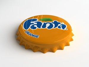 fanta orange bottle tin 3d model