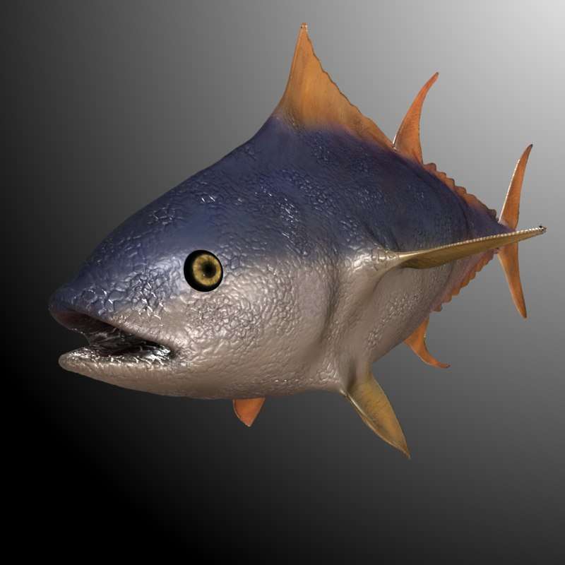 maya fish rigged