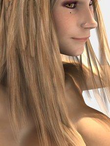 3d character rose girl