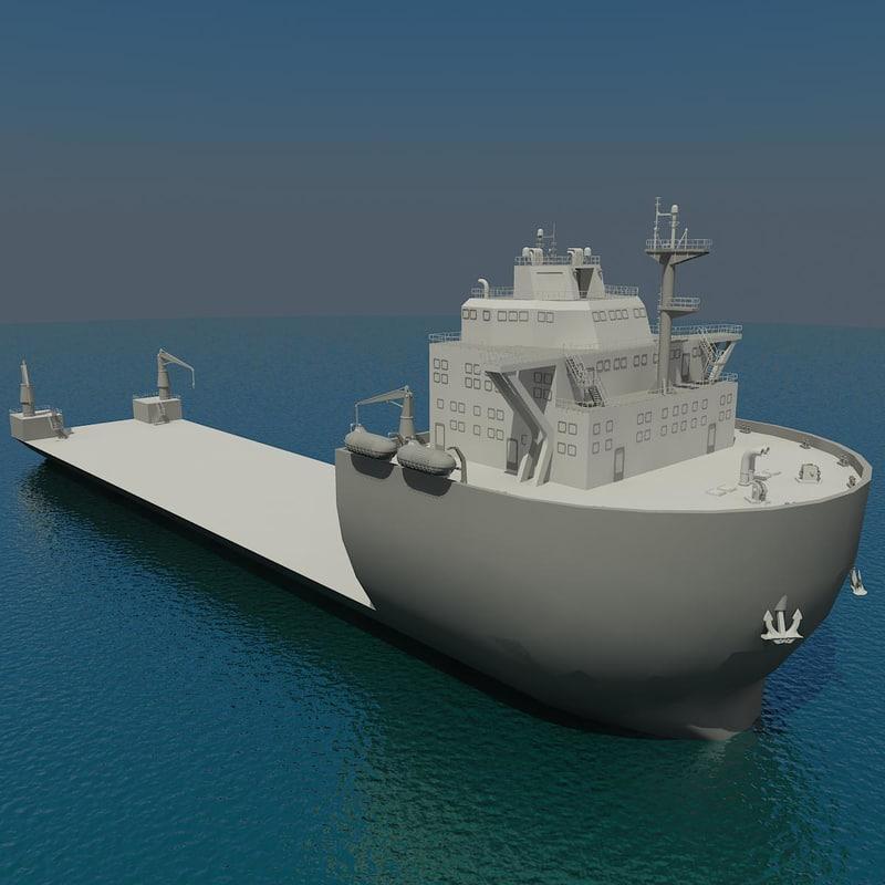 3d model heavy lift vessel