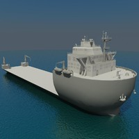 3d model heavy lift vessel