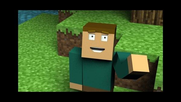 minecraft scene tree 3d model