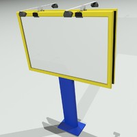 3d model of billboard