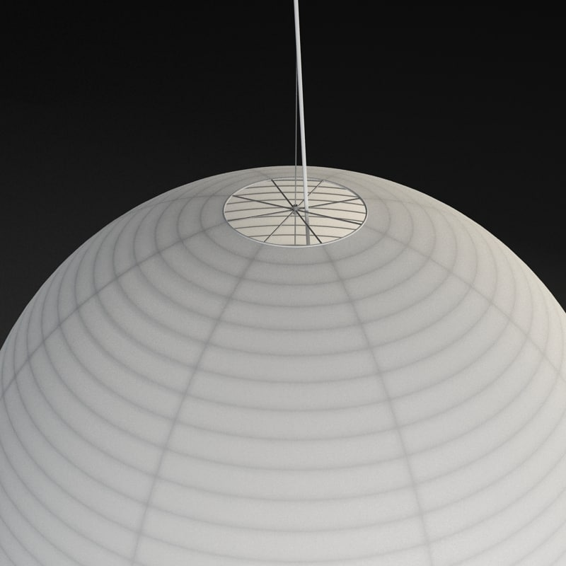 3d model paper lamp light