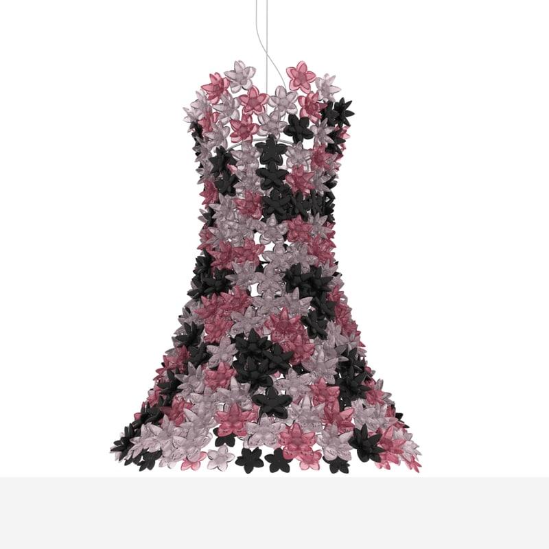 3d kartell bloom pendant lamp model