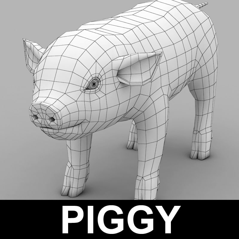 3ds max pig piggy