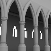 cathedral interior element 3d 3ds