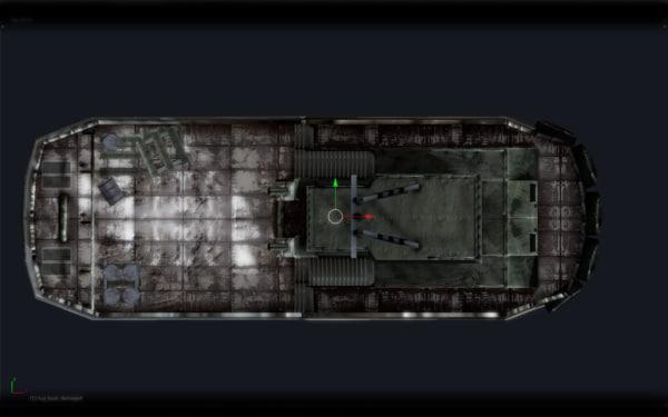 tug boat obj