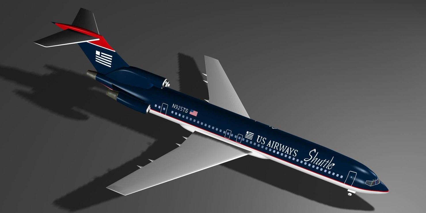 airways 727-227 shuttle 727 max