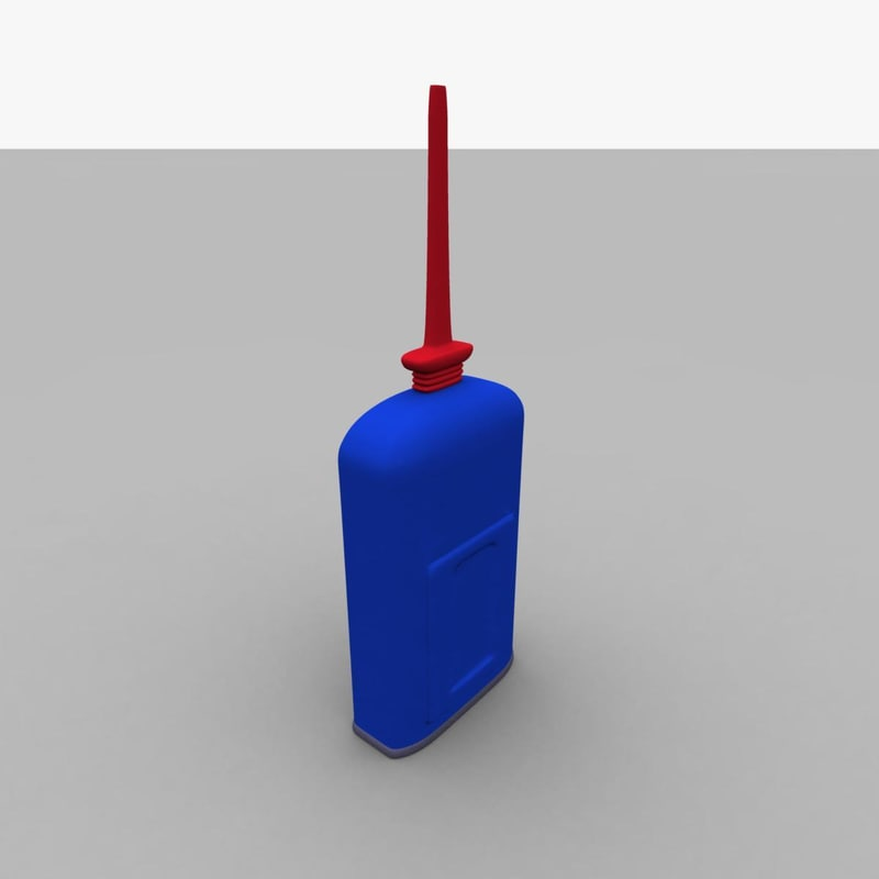 free oil bottle lubricant 3d model