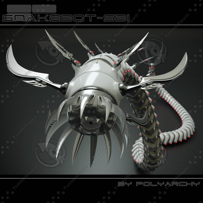 snake snakebot bot 3d max