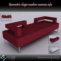 modern sofa 3d model