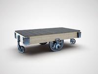 3d model table wheels