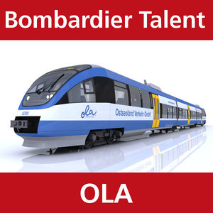 3d model talent passenger train ostseeland